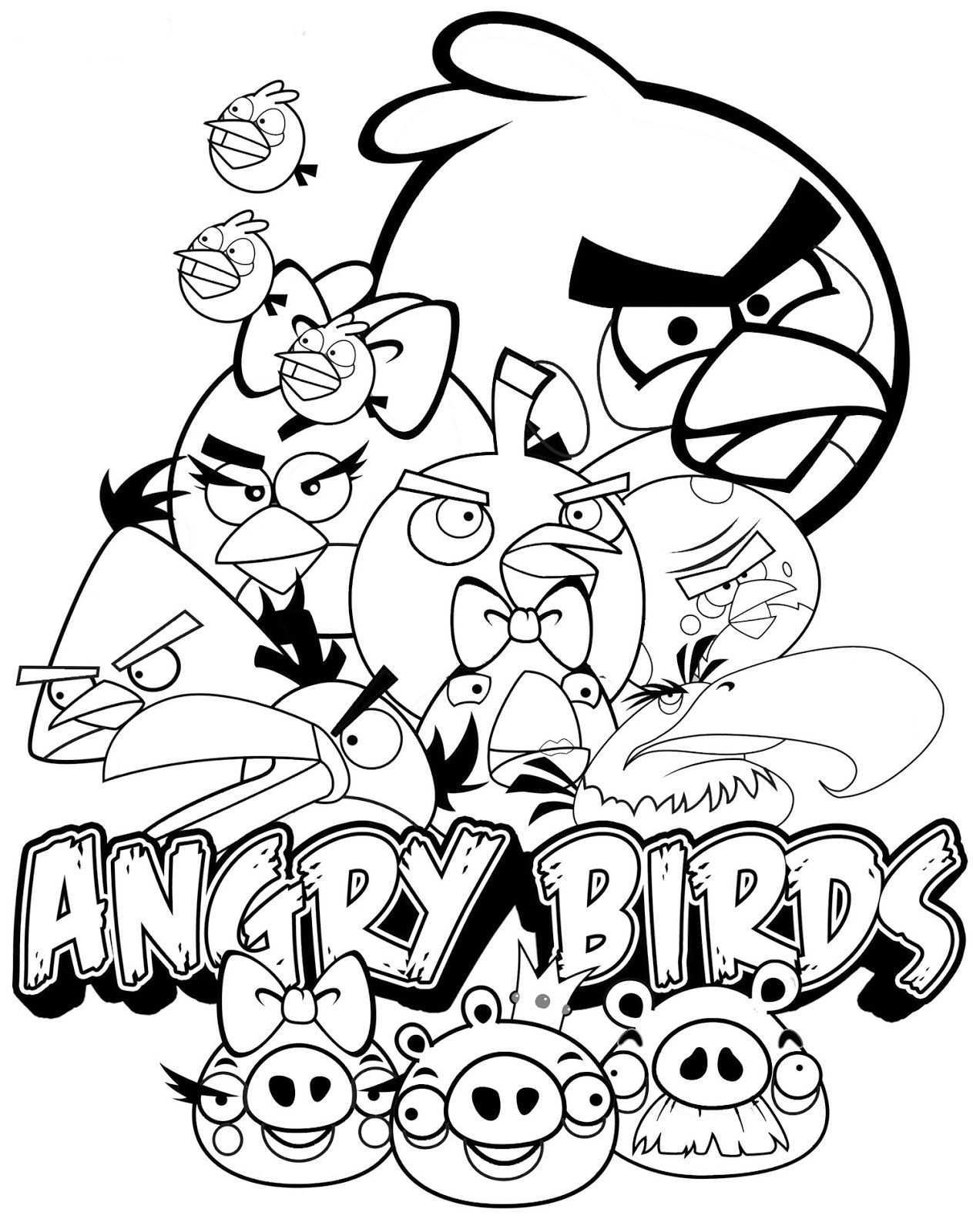 Angry Birds Kleurplaten Poster Bird Coloring Pages Coloring Pages Coloring Pages For Kids