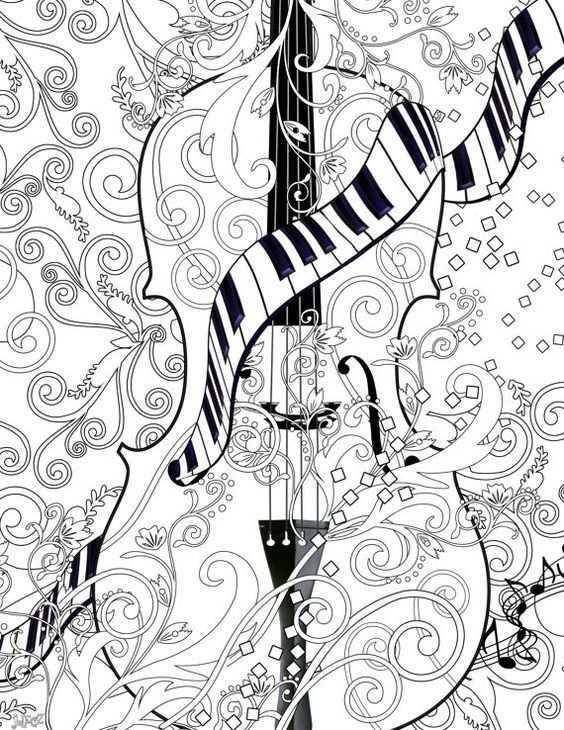 Kleurplaat Poster Instant Download Kleurplaat Poster Viool Kunst Viool Kleurplaat Poster Juleez Muziek Afdrukbare Viool Kleurplaat Poster Kleurplaten Adult Coloring Pages Viool Kunst