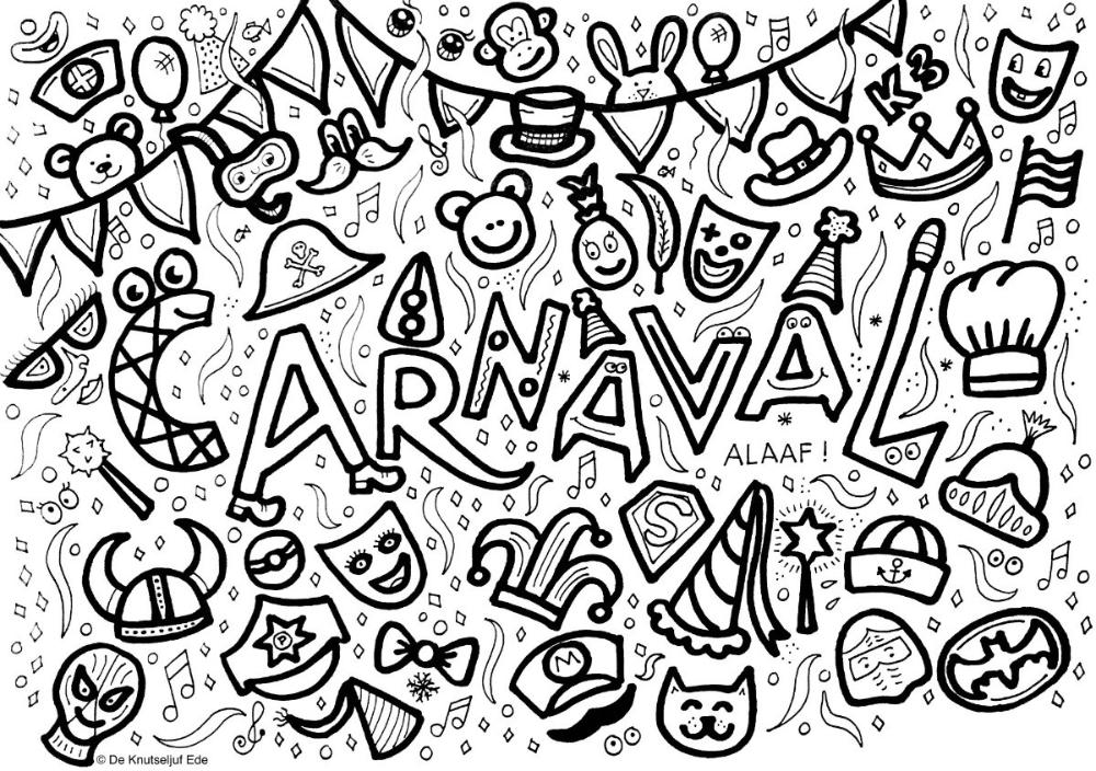 Block Poster Carnaval Kleurplaat Voor 25 Personen Blockposter Kleurplaat Kleurposter Carnaval Carnavalsposter Kleurpl Kleurplaten Poster Carnaval