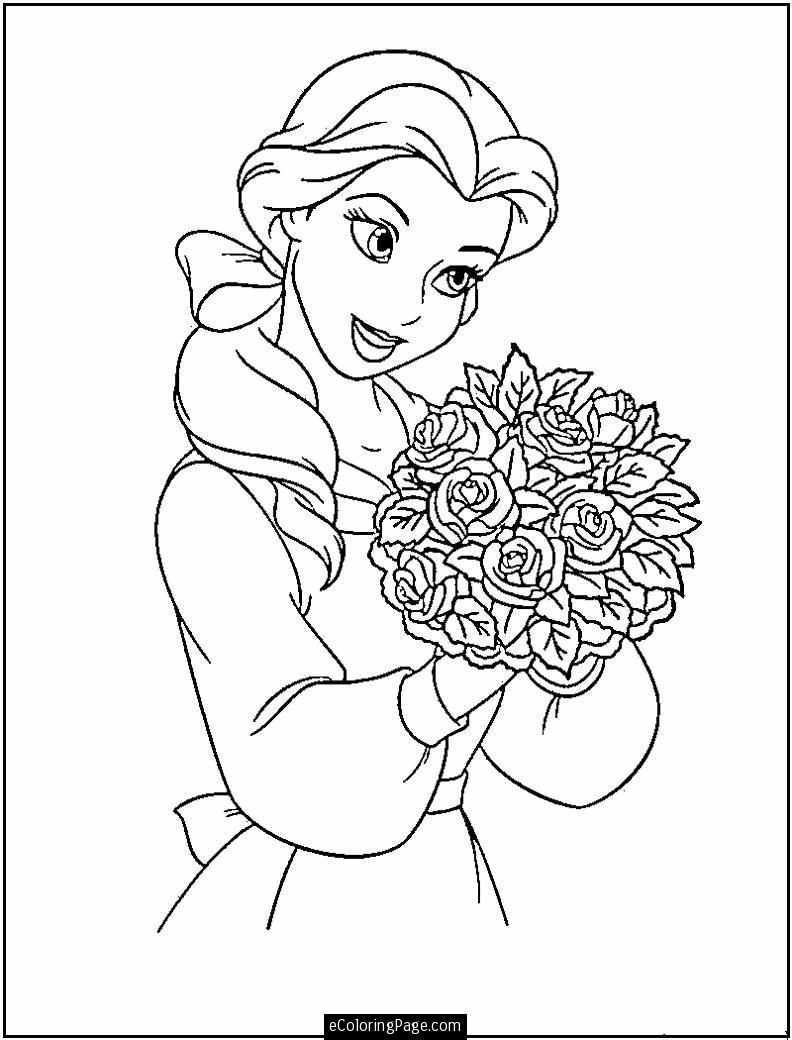 Beauty And The Beast Coloring Page Gratis Kleurplaten Disney Kleurplaten Kleurplaten