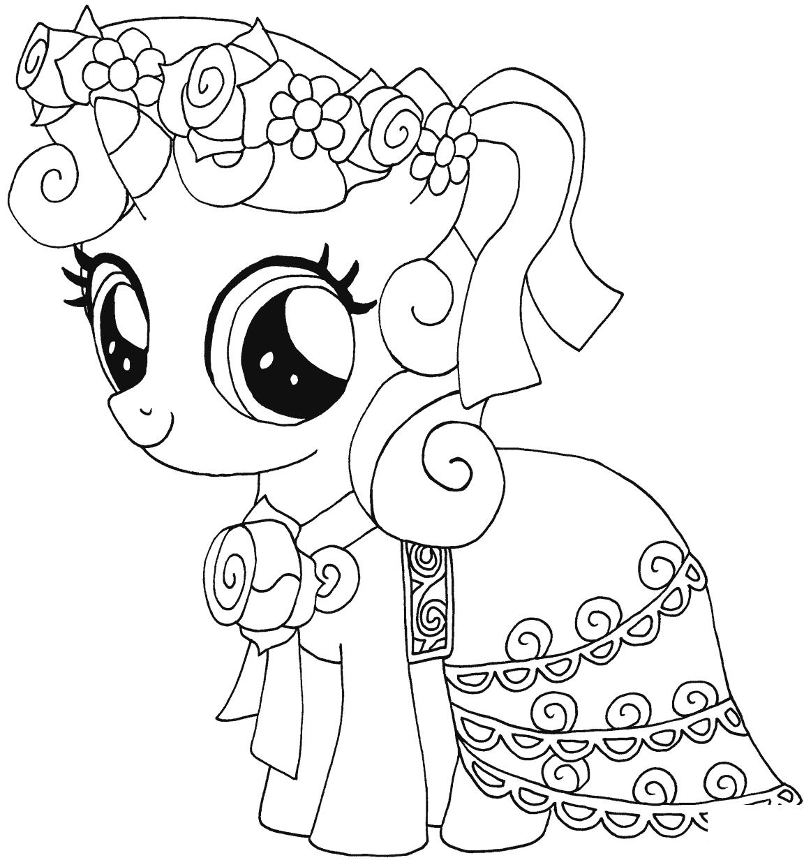 My Little Pony Sweetie Belle Kleurplaat My Little Pony Kleurboek Prinses Kleurplaatjes