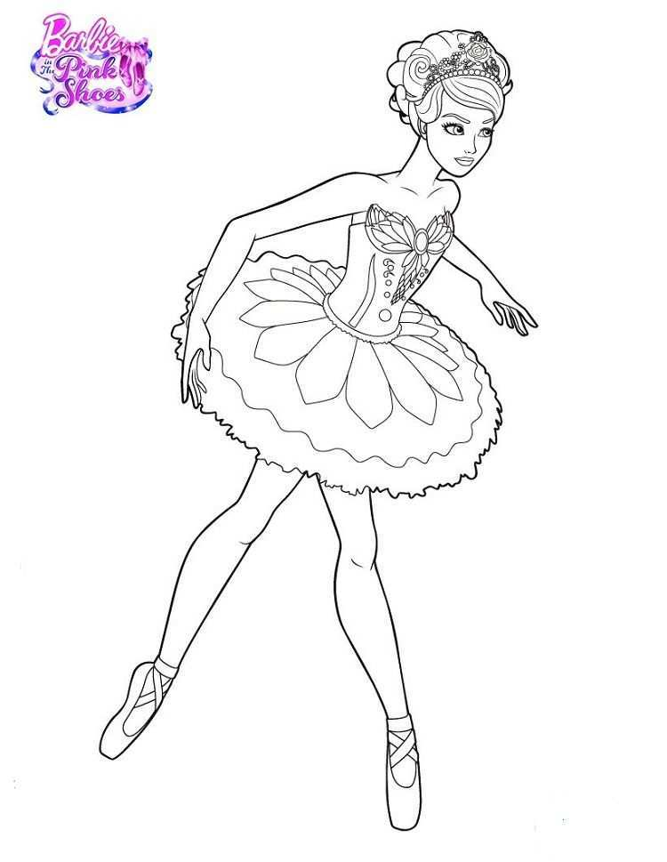 Barbie In The Pink Shoes Coloring Pages Prinses Kleurplaatjes Kleurplaten Gratis Kleurplaten