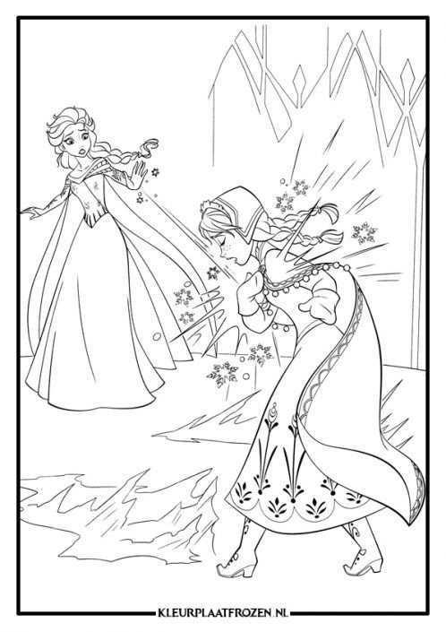 Frozen Kleurplaat Anna En Elsa In 2020 Frozen Kleurplaten Prinses Kleurplaatjes Dieren Kleurplaten
