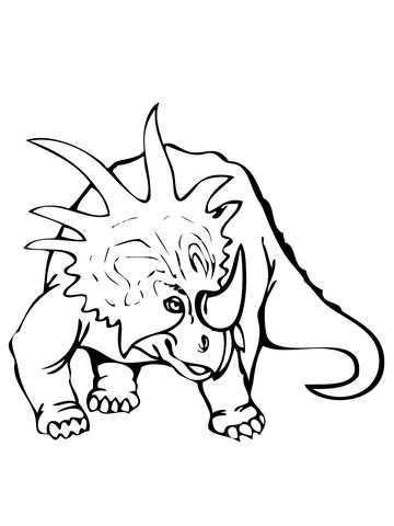 Styracosaurus Dinosaurus Kleurplaat Gratis Kleurplaten Printen Dieren Kleurplaten Kleurplaten Gratis Kleurplaten