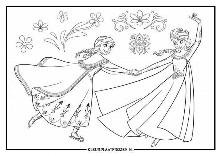 Anna En Elsa Kleurplaat Frozen Kleurplaten Prinses Kleurplaatjes Kleurplaten