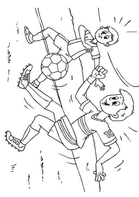 Voetbal Gratis Kleurplaten Kleurplaten Voetbal