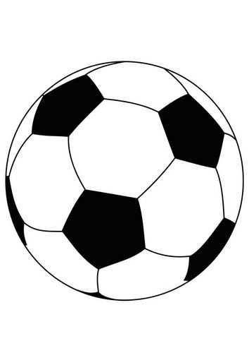 Kleurplaat Bal Voetbal Afb 15759 Voetbal Voetbal Posters Voetbal Tekenen