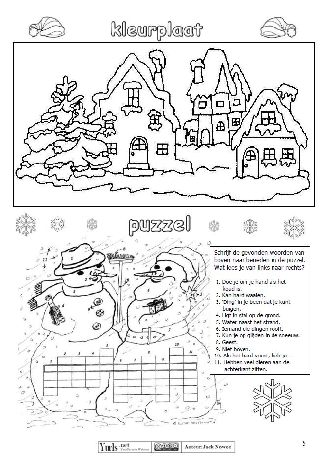 Kleurplaat Puzzel Jack Nowee Puzzel Kleurplaten Noordpool