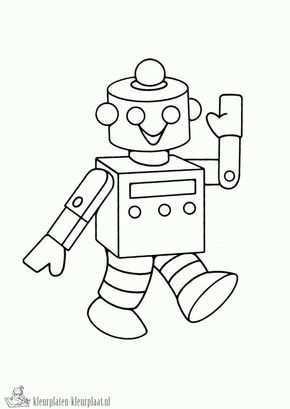 Kleurplaten Robot Kleurplaten Kleurplaat Nl Robot Kind Tekening Kleurplaten