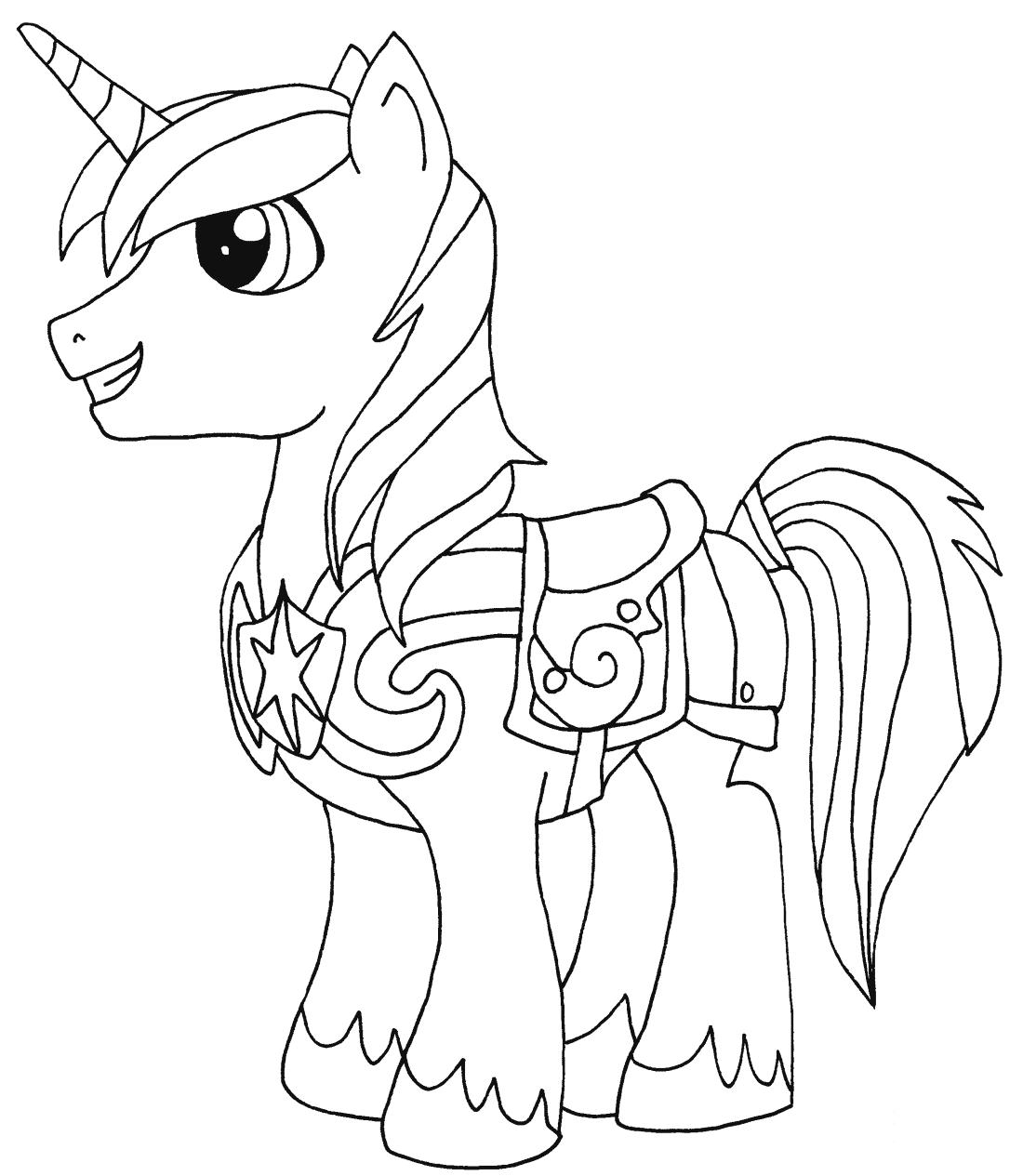 Shining Armor Kleurplaat Kleurplaten My Little Pony Rainbow Dash