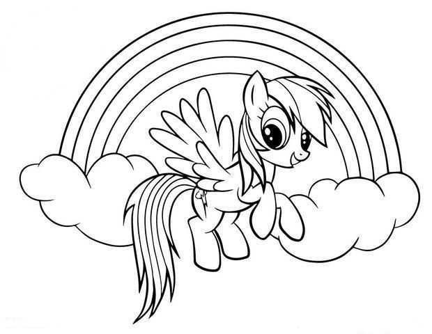 Rainbow Dash Coloring Pages Best Coloring Pages For Kids My Little Pony Drawing My Little Pony Coloring Cartoon Coloring Pages