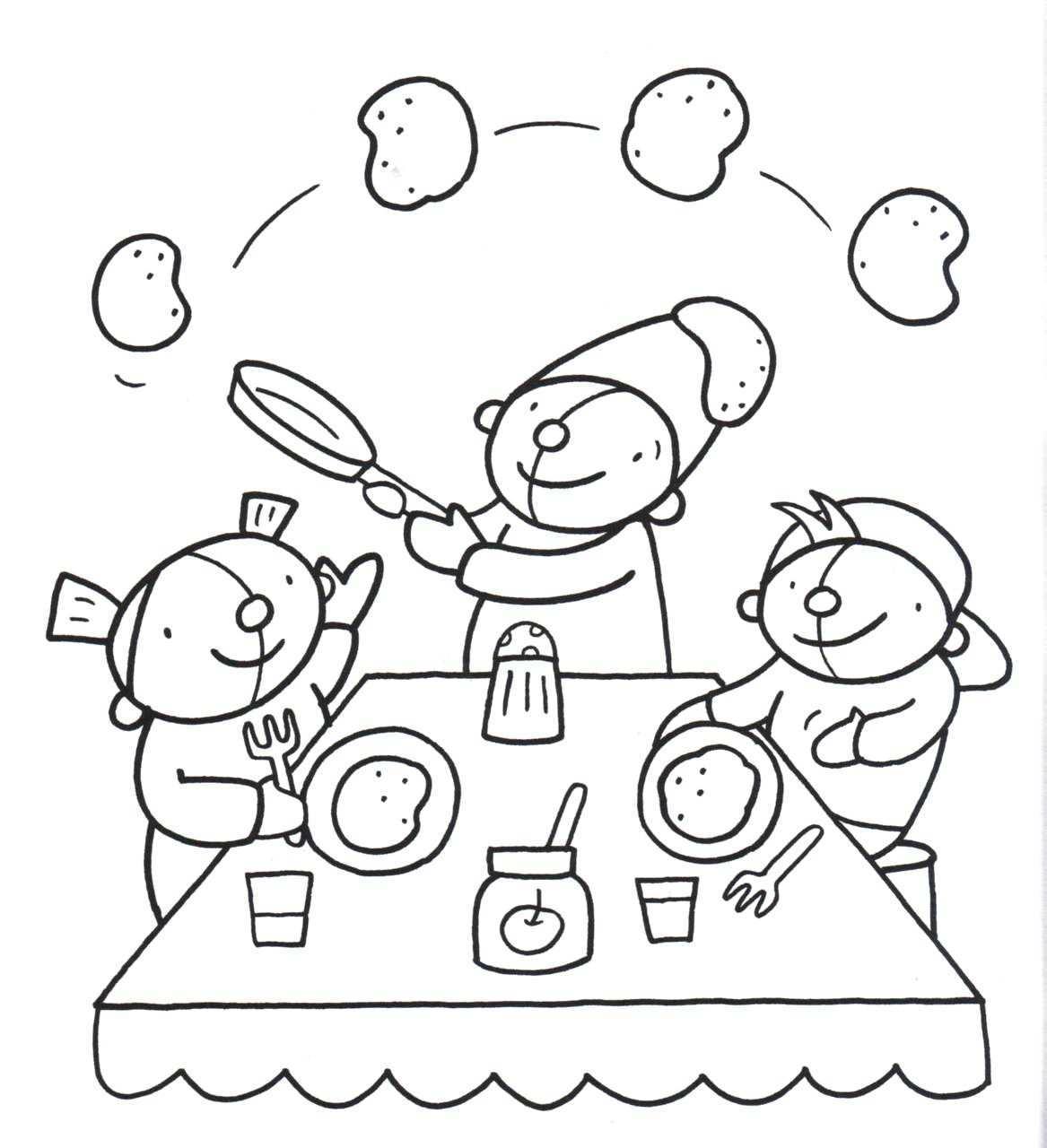 Kleurplaat Pompom Voeding Knutselen Thema Eten Kleurplaten Restaurant Eten