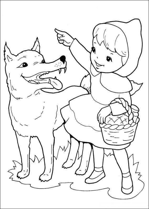 Roodkapje Kleurplaat Sprookjes Roodkapje Red Riding Hood