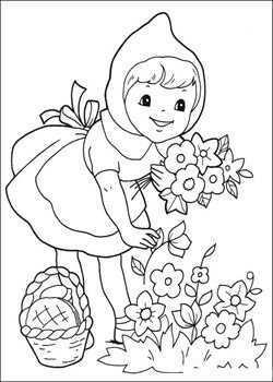 Kids N Fun 17 Kleurplaten Van Roodkapje Roodkapje Sprookjes Red Riding Hood