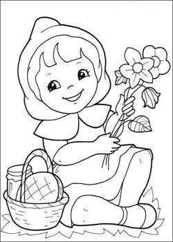 Kids N Fun 17 Kleurplaten Van Roodkapje Roodkapje Red Riding Hood Cartoontekening