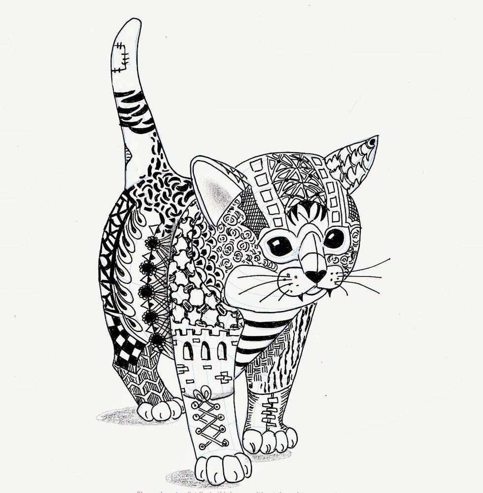 Hier Is Mijn Kitten Van Ben Kwok Dieren Kleurplaten Kattenkunst Mandala Kleurplaten