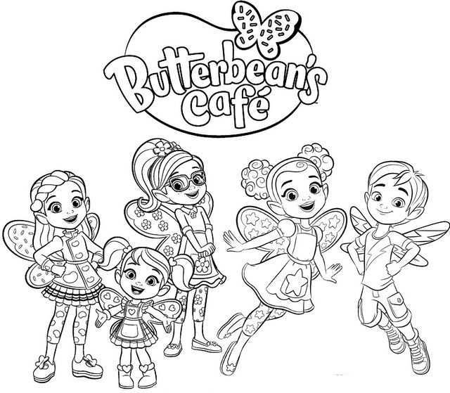 Best Butterbeans Cafe Coloring Page For Little Girls Cartoon Coloring Pages Coloring Pages Cute Coloring Pages
