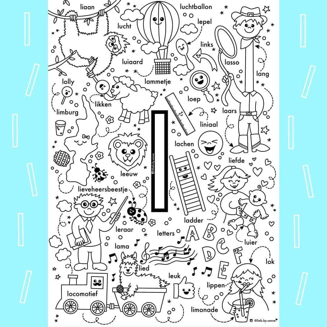 Sanne Anneveldt On Instagram De L Van Liefs By Sanne Als Je Mijn Kleurplaten Gebruikt Zou Ik Het Leuk Alfabet Kleurplaten Alfabet Boek Kleuterschool Taal