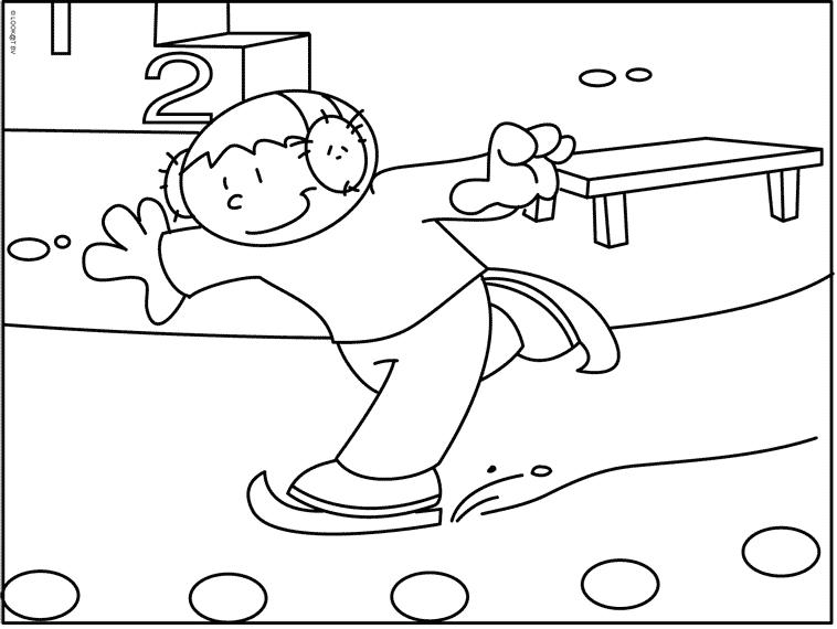 Schaatsen Kleurplaten Schaatsen