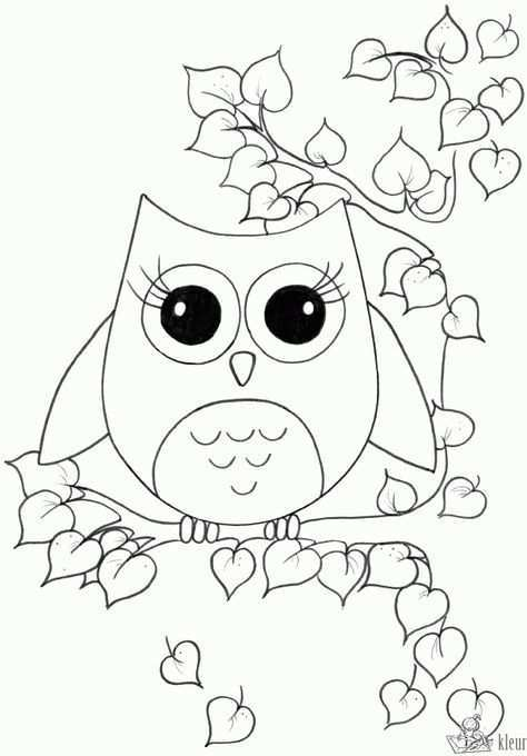 Schattige Kleurplaten Uiltjes Google Zoeken Owl Coloring Pages Coloring Pages For Girls Coloring Pages