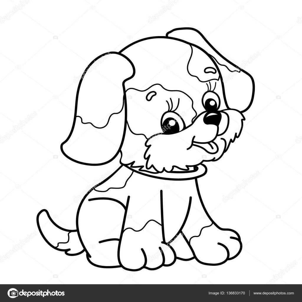 Tekeningen Schattig Kleurplaat Pagina Overzicht Van De Hond Van De Cartoon Schattige Tekeningen Hond Tekeningen Knutselen Hond