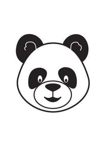 Kleurplaat Kop Panda Afb 17861 Cupcake Tekening Pandaberen Panda Knutselen