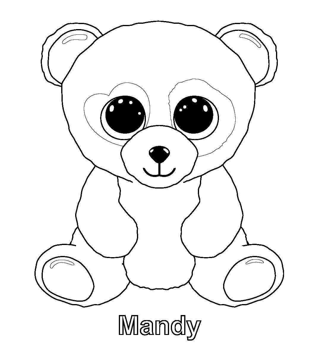 Ty Beanie Boos Coloring Pages Panda Coloring Pages Beanie Boo Birthdays Beanie Boo