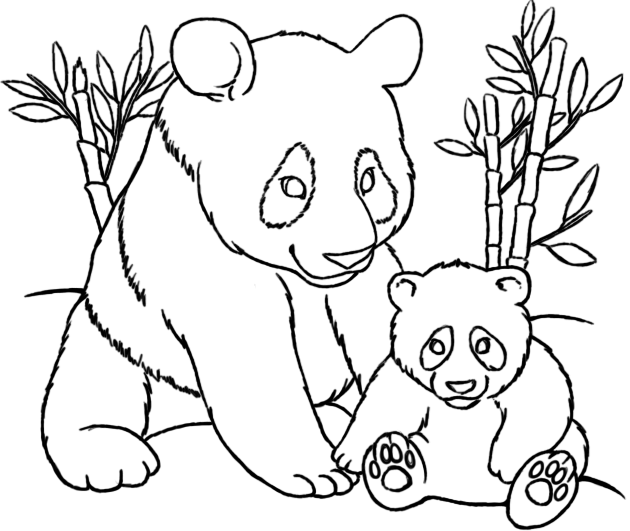 Mom And Baby Panda Coloring Pages Panda Coloring Pages Bear Coloring Pages Horse Colo