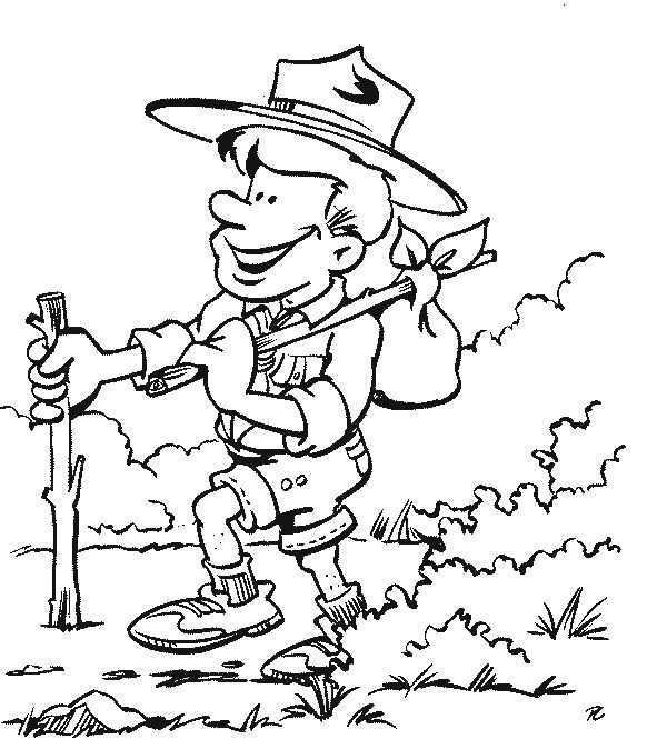 Kids N Fun Kleurplaat Scouting Scouting Kleurplaten Kleurboek Scouts