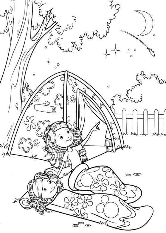 Groovy Girls Camp Coloring Pages Groovy Girls Coloring Pages Kidsdrawing Free Coloring Page Camping Coloring Pages Girl Scout Camping Brownie Girl Scouts