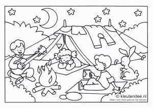 Camping Thema Campingthema Zomer Werkbladen