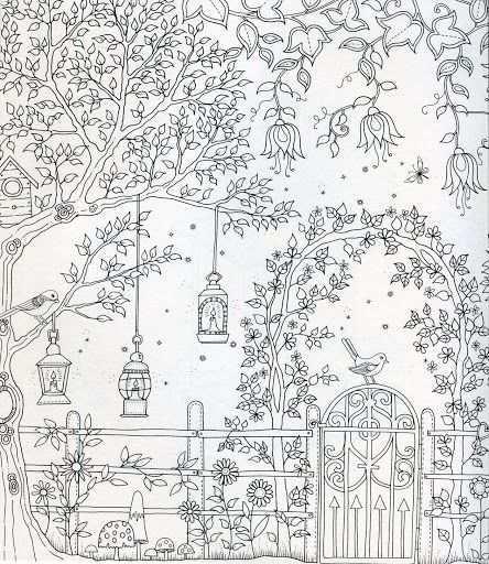 Secret Garden Garden Coloring Pages Secret Garden Coloring Book Basford Coloring Book