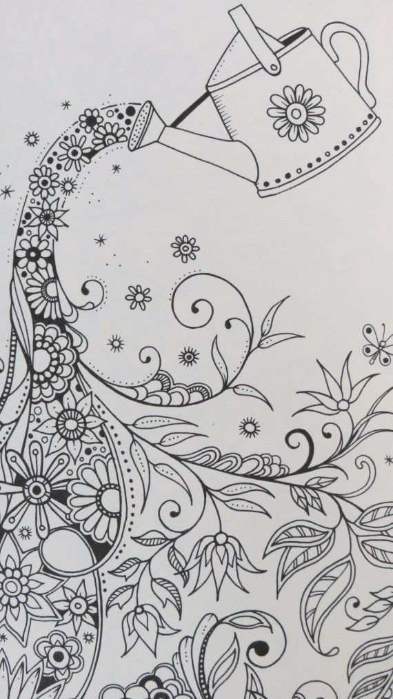 Secret Garden By Johanna Basford Zentangle Drawings Coloring Books Doodle Art