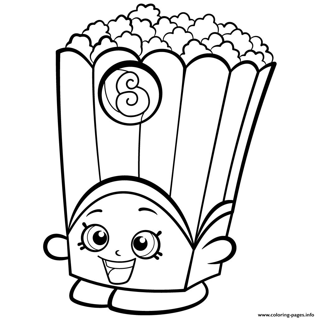 Popcorn Box Poppy Corn Shopkins Season 2 Coloring Pages Free Printable Shopkins Coloring Pages Free Printable Shopkin Coloring Pages Shopkins Colouring Pages