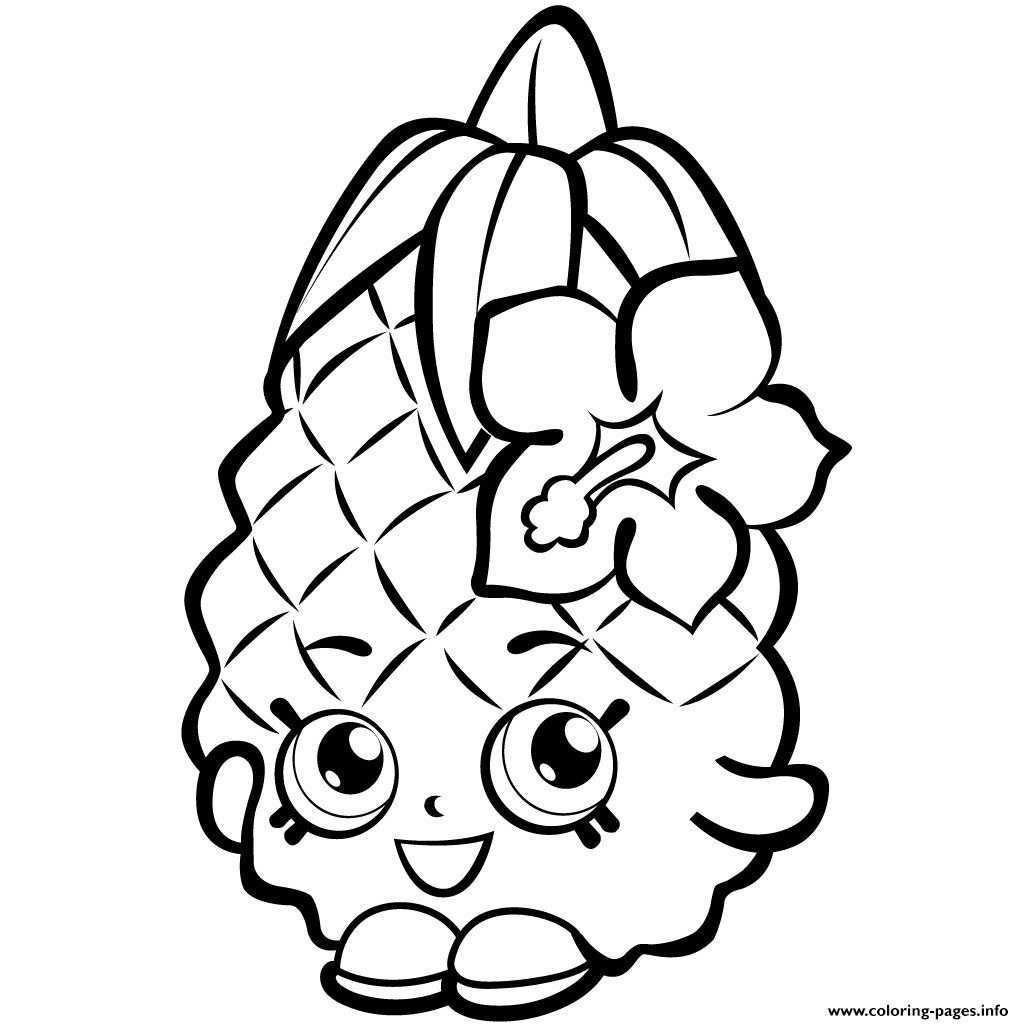 Fruit Coloring Pages Fruit Pineapple Shopkins Season 1 Coloring Pages Printable Entitlementtrap Com In 2020 Kleurplaten Gratis Kleurplaten Dieren Kleurplaten