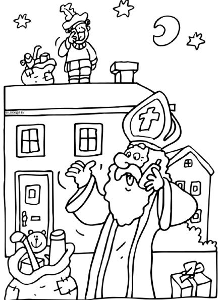 Sint En Piet Sinterklaas Kleurplaten Zwarte Piet