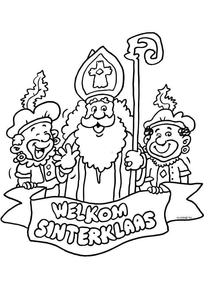 Welkom Sinterklaas Sinterklaas Kleurplaten Kleurplaat Com Sinterklaas Knutselen Sinterklaas Diy Sinterklaas