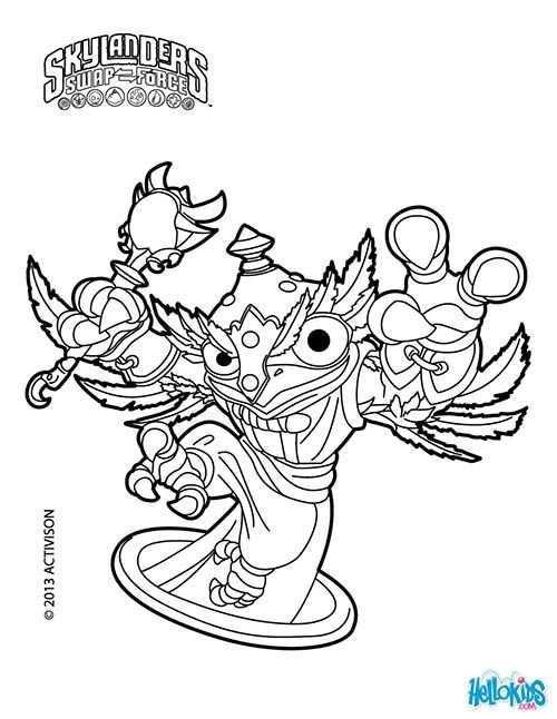 Coloriage Skylanders Swap Force Hootloop Jpg 500 646 Coloring Pages Coloring Pages To Print Coloring Books