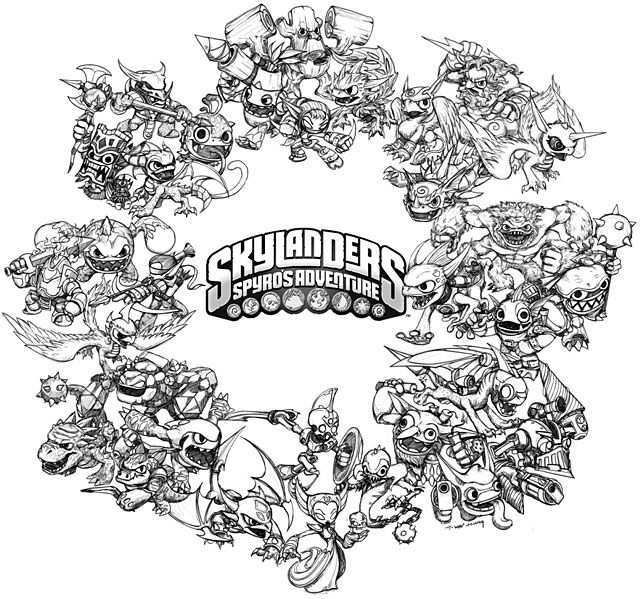 All Skylanders Sketches Coloring Pages Coloring Pages Inspirational Skylanders