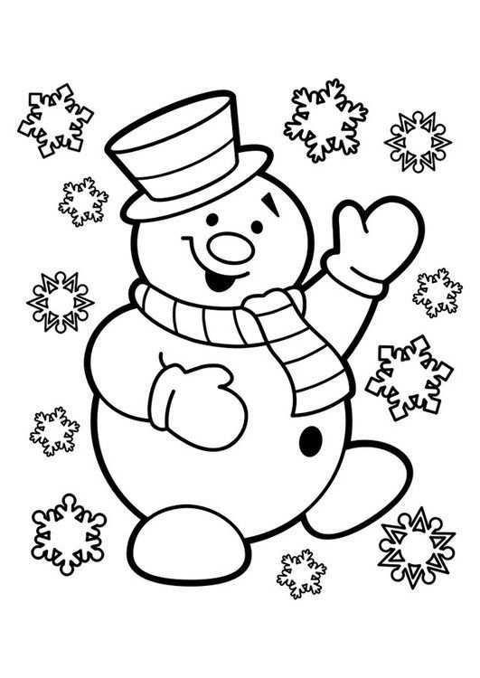 Kleurplaat Sneeuwpop Kerstmis Kleuren Boek Bladzijden Kleuren Kerstkleurplaten