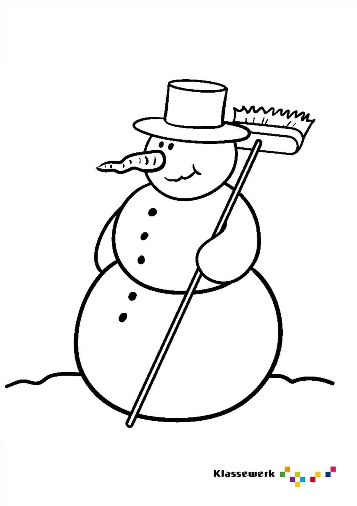 Kleurplaat Sneeuwpop Kleurplaten Voor Kinderen Voor Kinderen Sneeuwpop