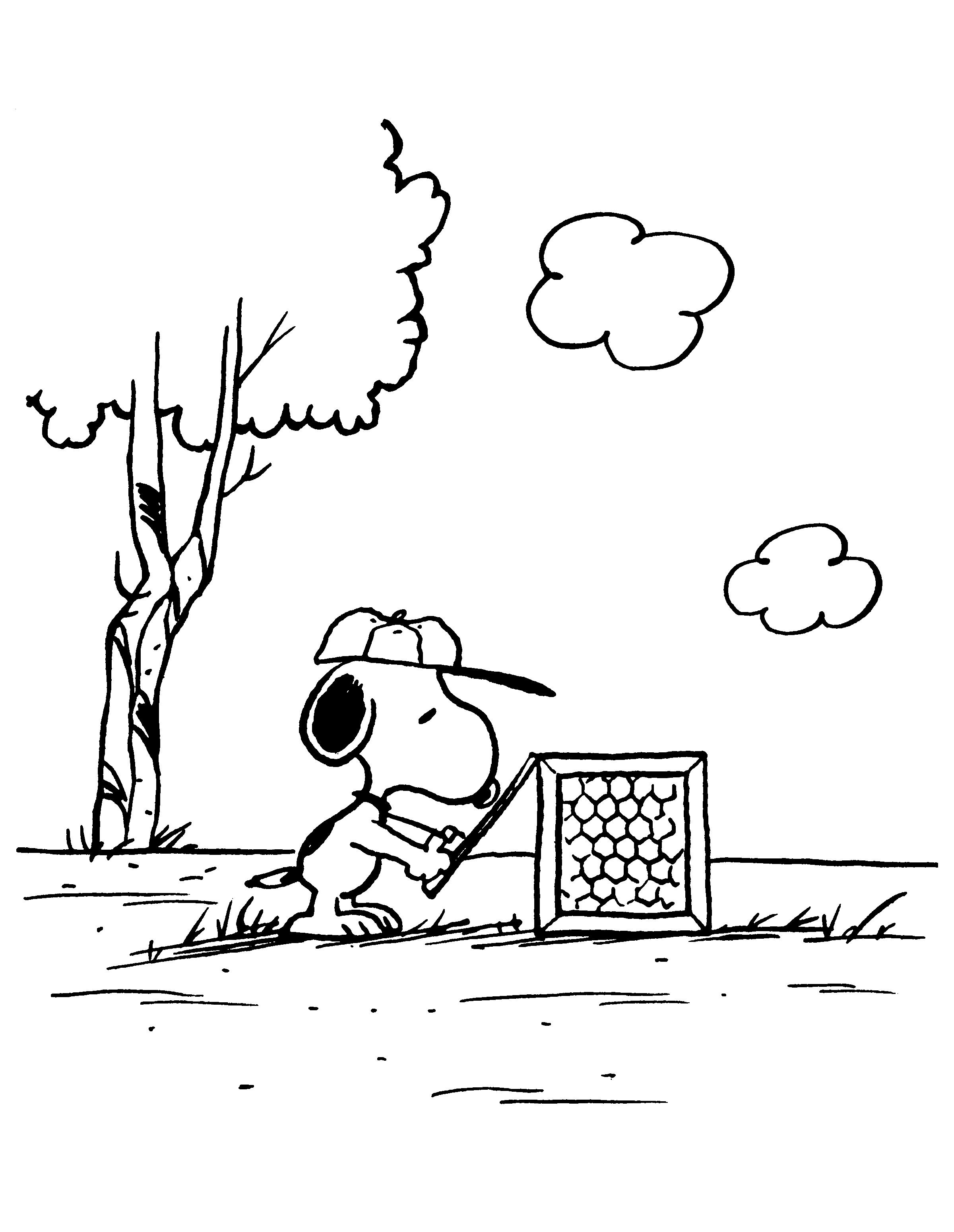 Kleurplaten Paradijs Kleurplaat Snoopy Snoopy