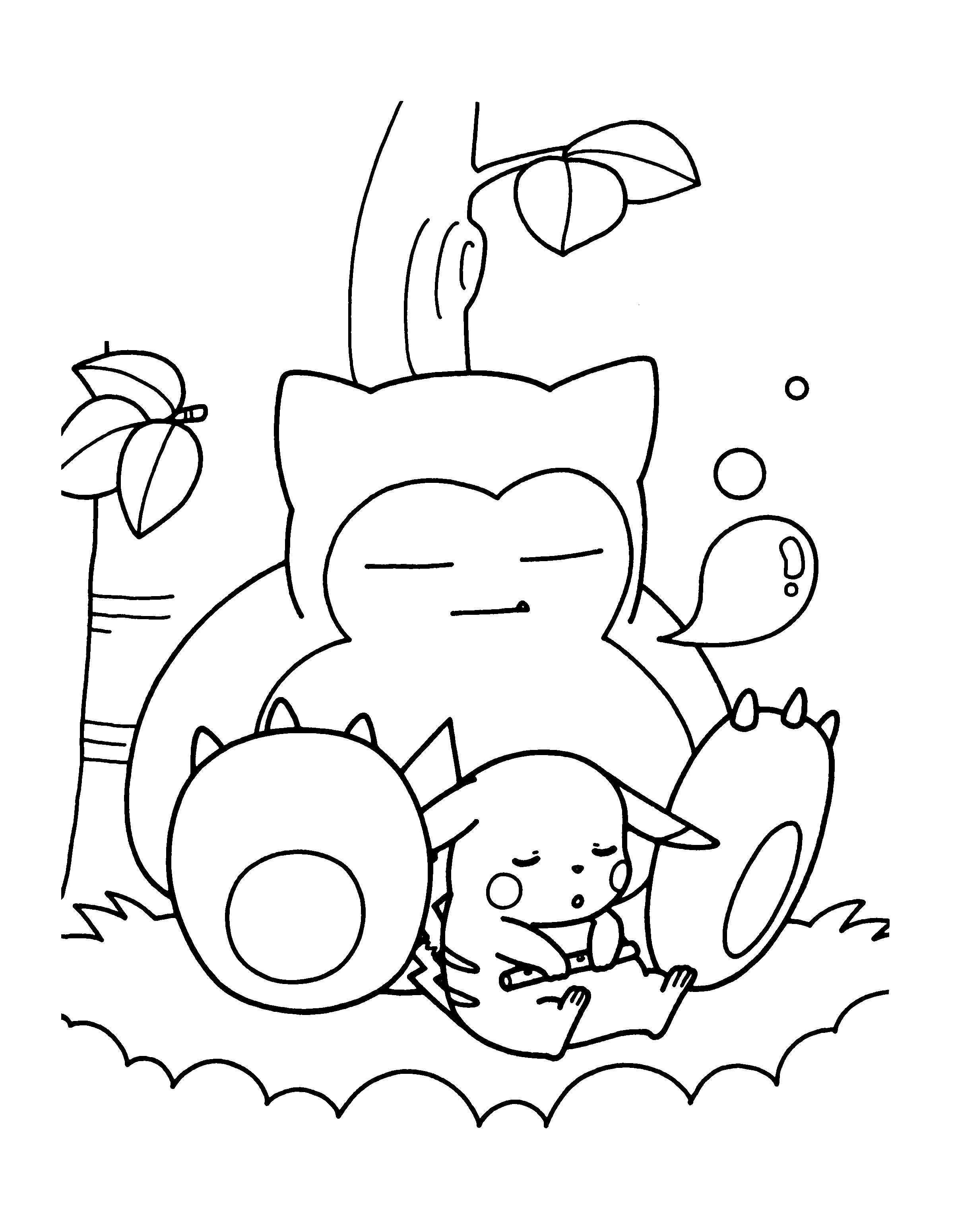 Pokemon Coloring Pages Snorlax From The Thousands Of Pictures On The Web With Regards To Pokemon Coloring Sheets Pokemon Coloring Pages Pikachu Coloring Page