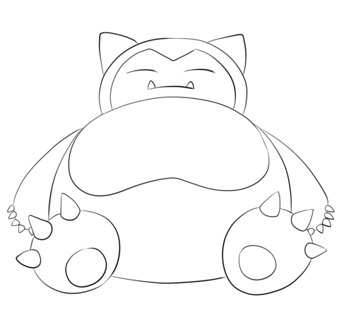 Snorlax Coloring Page In 2020 Pokemon Coloring Pokemon Coloring Pages Pokemon Coloring Sheets