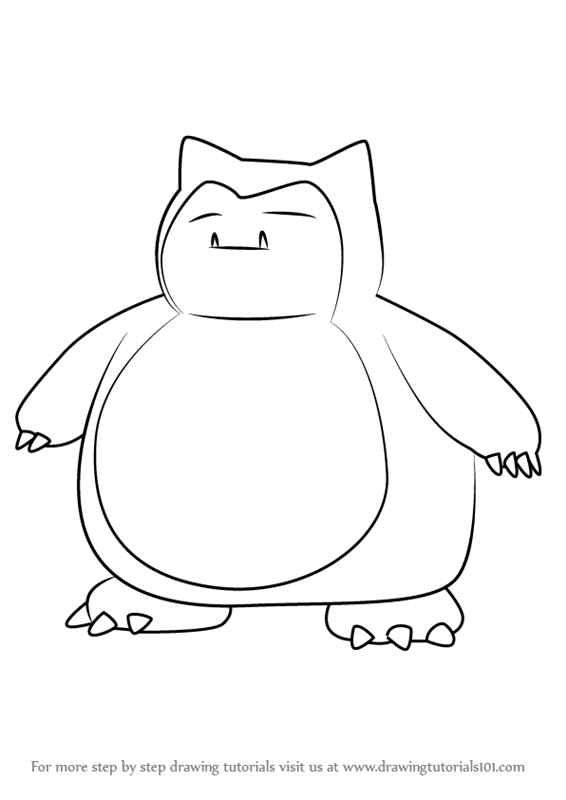 Learn How To Draw Snorlax From Pokemon Go Pokemon Go Step By Step Drawing Tutorials Pokemon Sketch Pokemon Drawings Snorlax Art