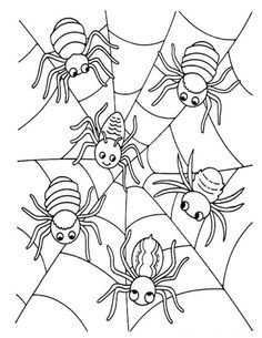 Kleurplaat Spin Peuters Google Zoeken Herfstwerkjes Kleurplaten Herfst Halloween