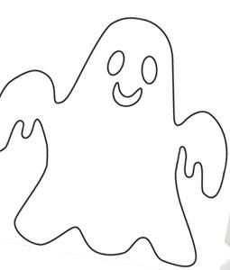 Spookje Sjabloon Knutsel Ideeen Knutselen Halloween Knutselen Met Halloween Diy Halloween Decor