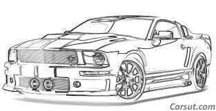 Afbeeldingsresultaat Voor Ford Mustang Tekening Kleuren Sportauto S Kunstwerk