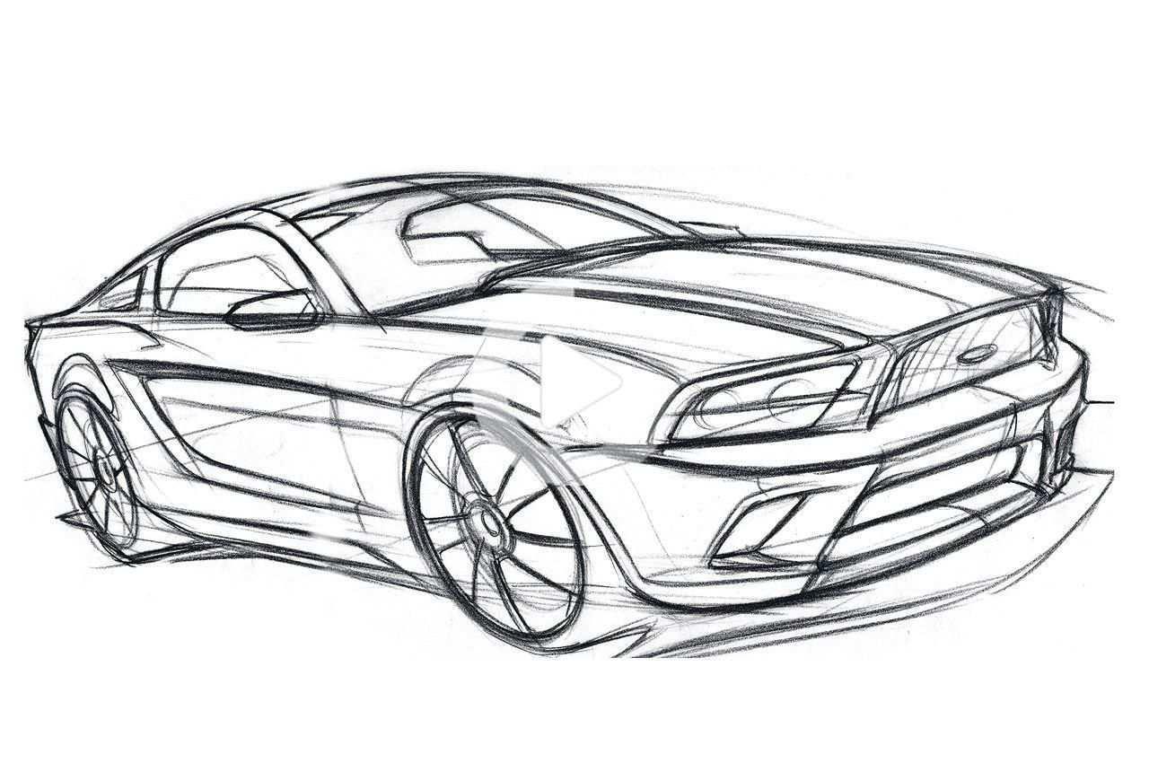 Hot Or Not 2015 Mustang Concept Rendering Auto Tekeningen Auto Kleurplaten