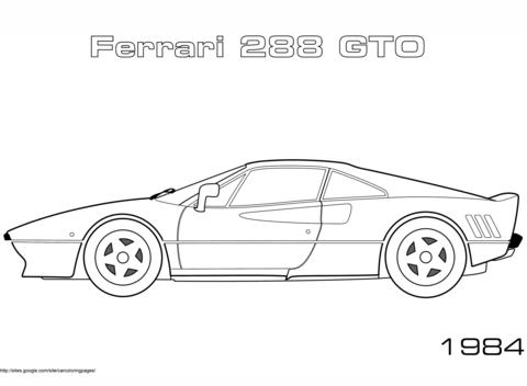 Kleurplaat Ferrari F40 Google Zoeken Kleurplaten Sjablonen Kussen